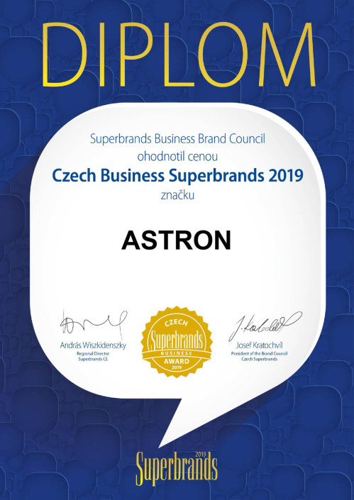 Czech Business Superbrands 2019 pro značku ASTRON